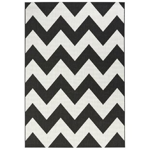 Meadow Woven Black Cream Rug