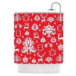 Warm Winter Red Shower Curtain ByEast Urban Home