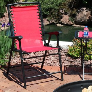 Serenity Outdoor Suspension Folding Patio Chair (Set of 2)