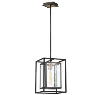 Gracie Oaks Fechteler 1-Light Square/Rectangle Pendant