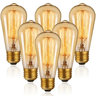 LED Bulb E27 Screw Fully Enclosed Three Anti-Gold Bulb 2 Pack ,40W
