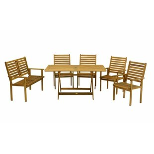 Dollar 6 Seater Dining Set By Natur Pur