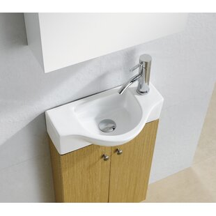 Modern Ceramic 18  Wall Mount Bathroom Sink Sinks AllModern