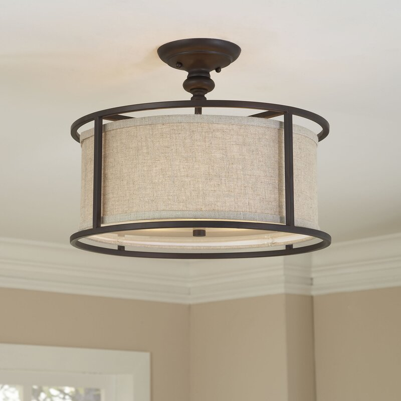 Elmhurst 3 Light Semi Flush Mount