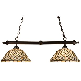 Meyda Tiffany Tiffany Diamond and Jewel 2-Light Pool Table Lights Pendant
