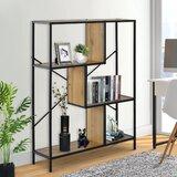 Mraz 45.2'' H x 31.5'' W Metal Geometric Bookcase by 17 Stories