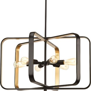 Geer 6-Light Geometric Chandelier by Ivy Bronx