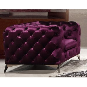 Everly Quinn Vennie Tufted Chesterfield Sofa Image