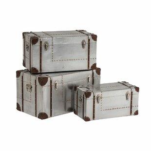 Marcellus 3 Piece Storage Trunk Set