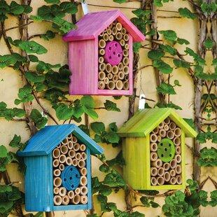 Evergreen Enterprises, Inc 3 piece Bee Habitat 8 in x 7 in x 4.5 in Bumblebee House set