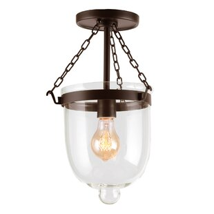 Edwards 1-Light Semi Flush Mount by Gracie Oaks