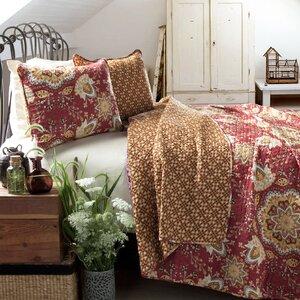 Banner Cotton 3 Piece Reversible Quilt Set