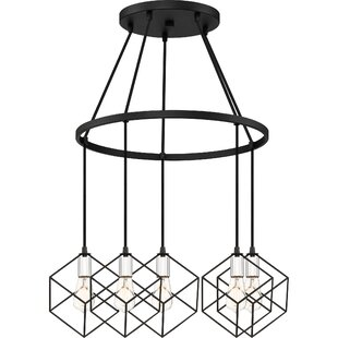 Wrought Studio Theodorus 5-Light Geometric Chandelier