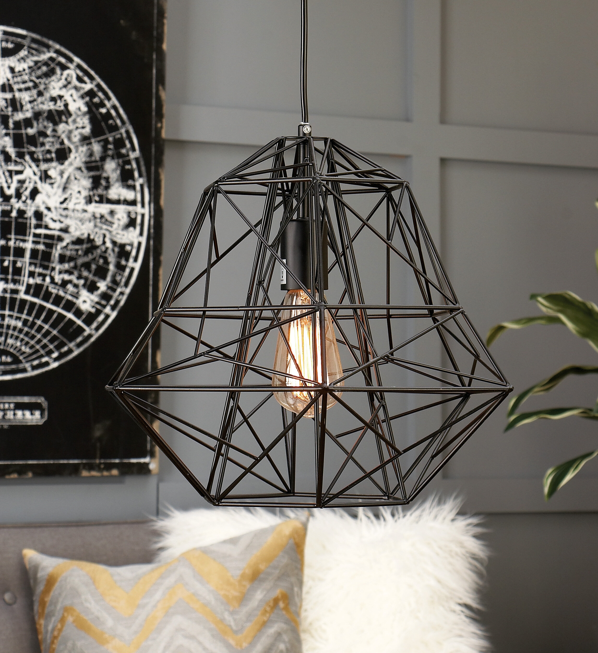Cosmoliving By Cosmopolitan 1 Light Single Geometric Pendant Wayfair