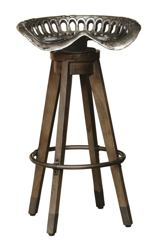 Modern Farmhouse or Industrial Farmhouse Style Swivel Bar Stool #barstool #tractorseat #farmhouse