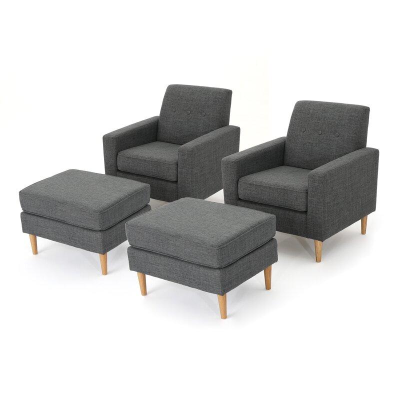 Wachtel Armchair And Ottoman Set