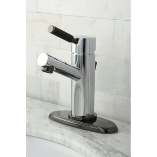 Kingston Brass Water Onyx Centerset Bathroom Faucet with Brass Pop-Up