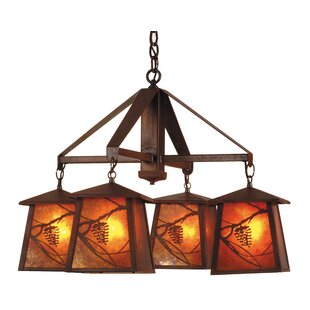 Meyda Tiffany Whispering Pines 4-Light Shaded Chandelier