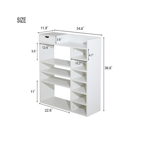 Modern Multi Layer Wooden Shoes Racks, Entryway Shoes Storage Stand, Hallway Shoe Rack Organizer With Drawer Suitable For Small Spaces , Space Saving Vertical , Storage Shelf