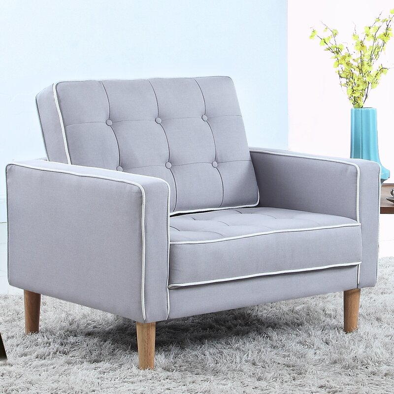 Madison Home USA Mid Century Modern Fabric Living Room Armchair ...