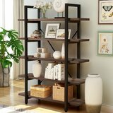 Sedlak 63'' H x 47.2'' W Metal Etagere Bookcase by 17 Stories