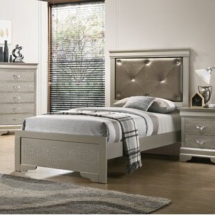 House of Hampton Mize Upholstered Panel Bed