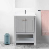 Anouk 25 Wall-Mounted Single Bathroom Vanity by Rosecliff Heights