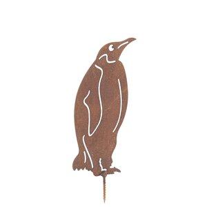 Rusty Penguin Garden Art