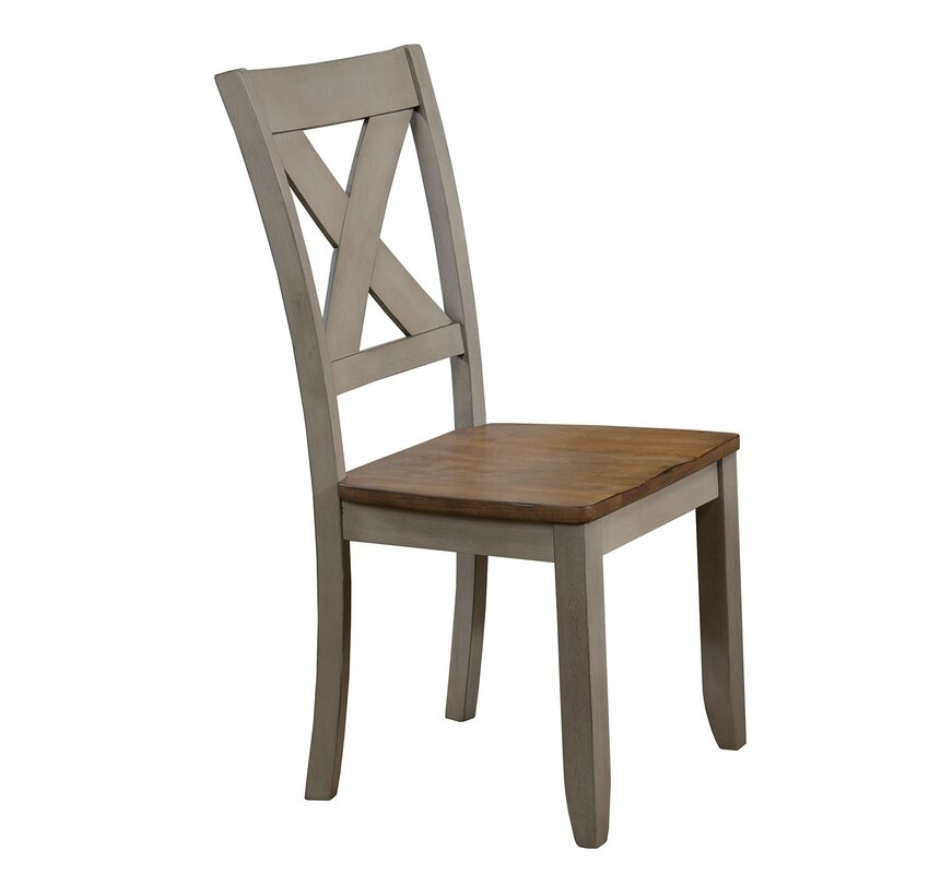 Wonderly Back Side Solid Wood Dining Chair (Set Of 2) By August Grove