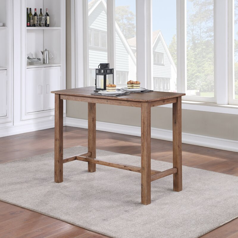 Birch Lane Allister Counter Height Rubberwood Solid Wood Dining Table Reviews Wayfair Ca