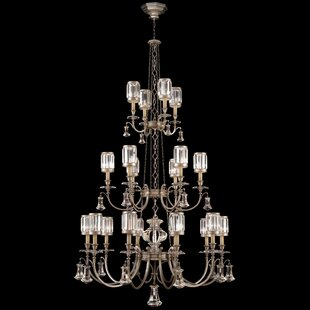 Eaton Place 20-Light Shaded Chandelier by Fine Art Lamps