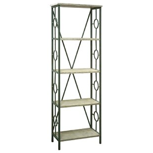 Cottrell Key Largo Seafoam Etagere Bookcase Rosecliff Heights