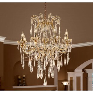 House of Hampton Washam 8-Light LED Crystal Chandelier