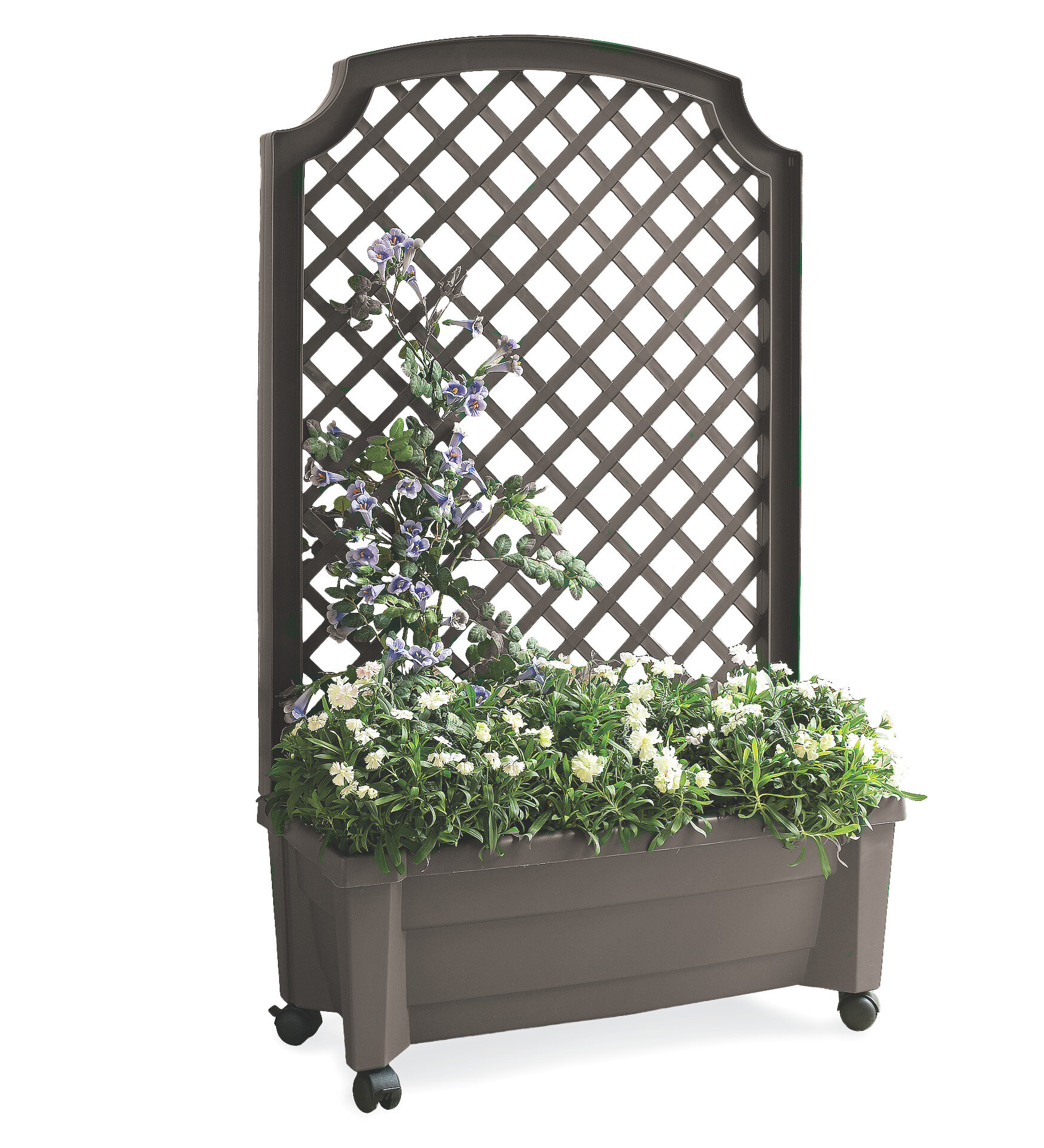 Plow Hearth All In One Self Watering Planter Box With Trellis