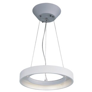 Orren Ellis Brubaker 1-Light Steel Pendant