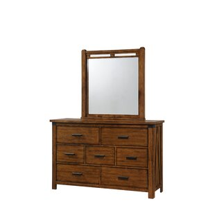 Loon Peak Cergy 7 Drawer Dresser With Mirror Image
