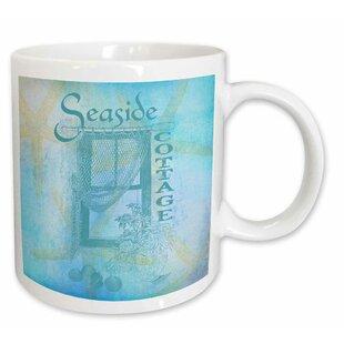 Window By The Sea With Shells And Starfish Beach Theme Coffee Mug