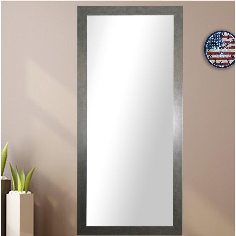 Wade Logan Rectangle Silver Framed Wall Mirror & Reviews   Wayfair