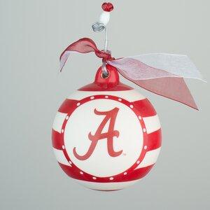 Alabama Stripe Ball Ornament