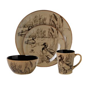 Mossy Oak 16 Piece Dinnerware Set, Service for 4