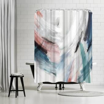 East Urban Home Murray Bolesta Agave Abstract Single Shower Curtain Wayfair
