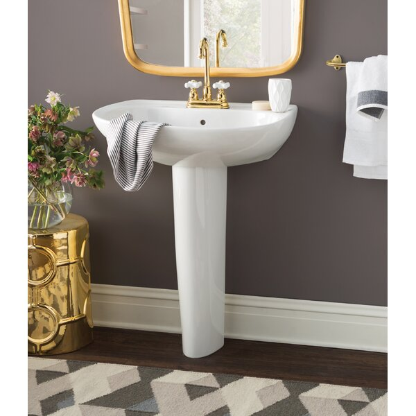 Toto Prominence Vitreous China 26 Quot Pedestal Bathroom Sink