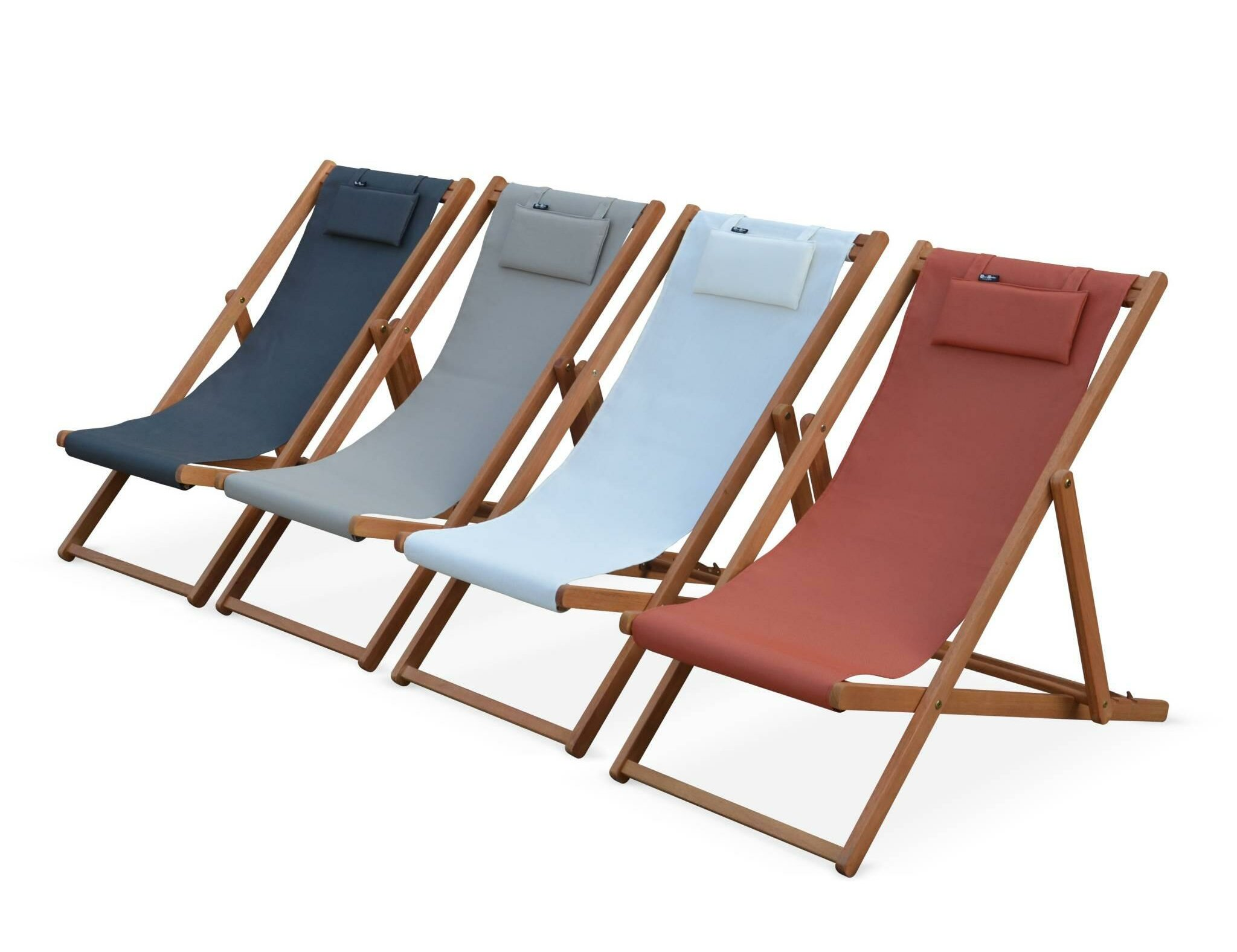 Sol 72 Outdoor Graydon Reclining Folding Deck Chair With Cushion Wayfair Co Uk