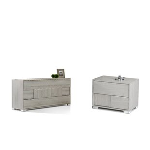 Febus 3 Drawer Dresser with 2 Nightstands