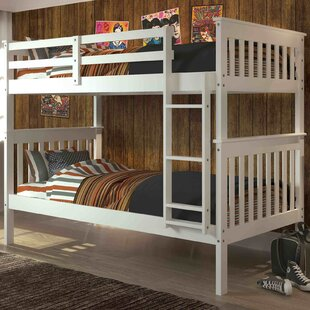 Compare prices Hollins Twin over Twin Bunk Bed By Harriet Bee