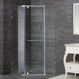 37 x 75 Pivot Semi-Frameless Shower Door by Aston