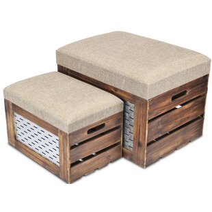 Feinberg 2 Piece Storage Bench Set