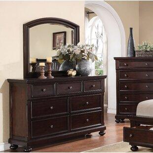 McMullen 7 Drawer Dresser with Mirror