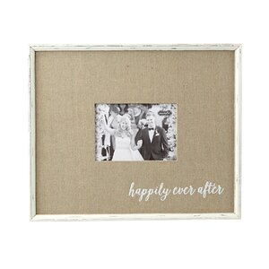 happily ever after wedding picture frame by mud pie - Mud Pie Picture Frames