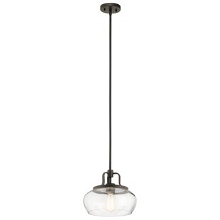 Latitude Run Holmquist 1-Light Dome Pendant